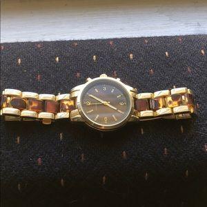 Gold dipped cheetah wrist watch